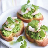 Picture of Pea and Prawn Crostini